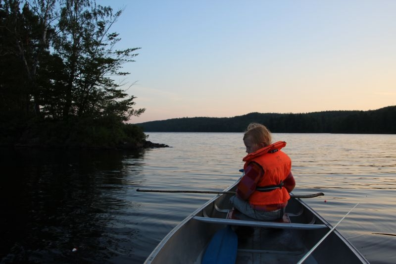 Dejlig aften i kanoen