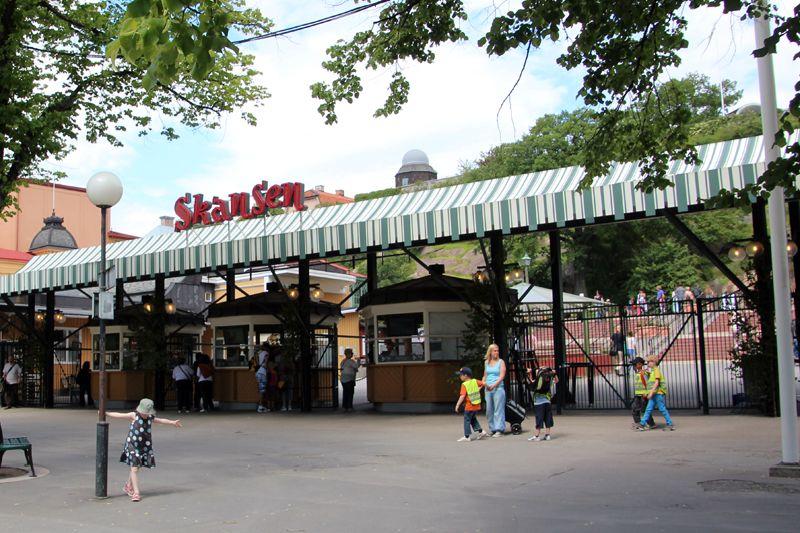 Indgang til Skansen i Stockholm