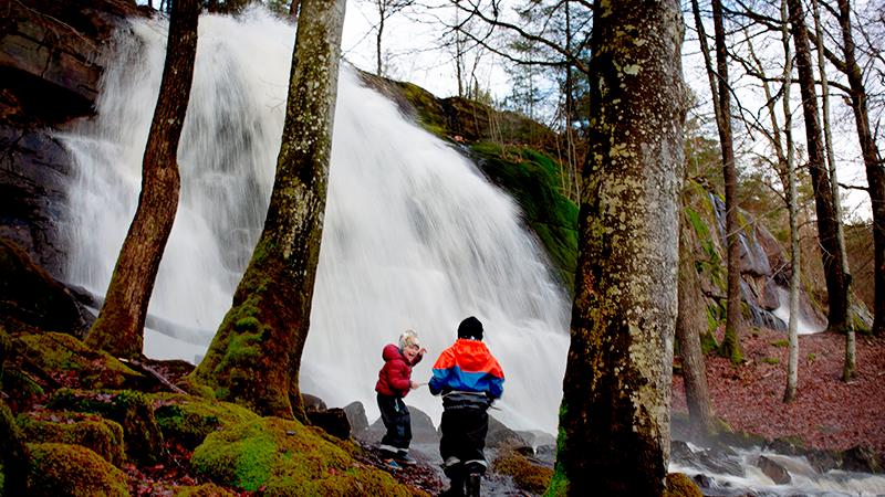 Vandfaldet i Albäck (foto: Malin Arnesson).